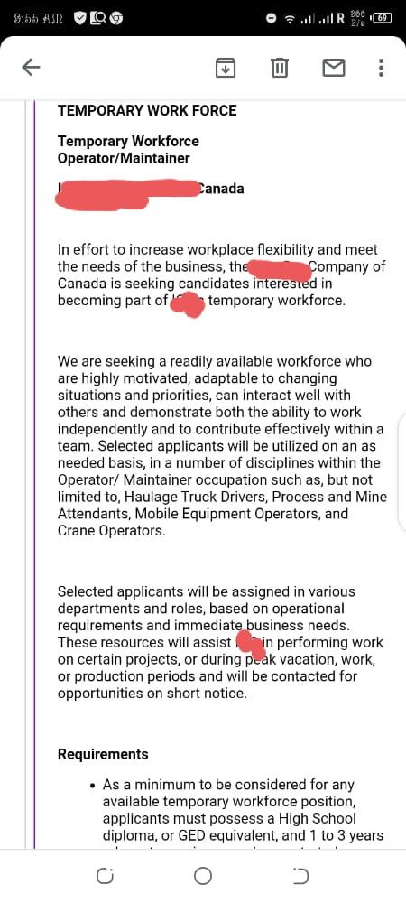 Job scam letter
